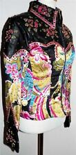 Floral Non Stretch Showmanship Pleasure Rail Show Rhinestone Crystal Jacket XS