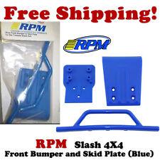 RPM 80025 Traxxas Slash 4x4 Front Bumper & Skid Plate (Blue)