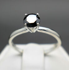 .50cts to 1.00 cts Real Natural Black Diamond Engagement Ring & $450 Value +