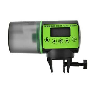 Automatic Aquarium Fish Feeder Smart Tank Auto LCD Indicates Feeding Dispenser