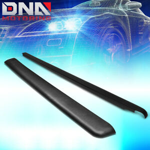 FOR 1988-2000 CHEVY/GMC C/K 6.5FT BED SATIN BLACK TRUCK RAIL COVER CAPS MOLDING