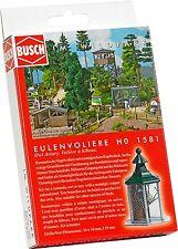 LOT 13858 | Busch HO 1581 Eulenvoliere owl aviary Bausatz NEU in OVP