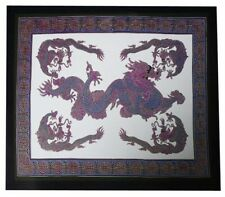 CHINESE WALL HANGING DRAGON TAPESTRY PURPLE LUCKY DRAGONS DECOR THROW
