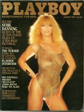 Playboy Magazine August 1983 FREE S/H Featuring A Sybil Danning Pictorial
