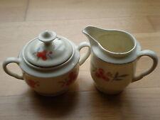 Kahla Porzellan Zuckerdose und Milchkännchen