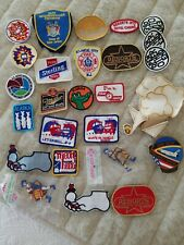 Vintage lot beer gas oil casino fire Embroidered Iron On Patch police dea beer 5