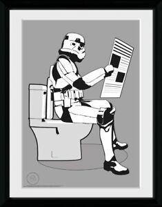 Stormtrooper Storm Pooper Framed Official Print New