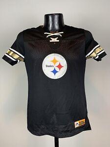 Men's Majestic Fan Fashion Pittsburgh Steelers Black Short-Sleeve Logo Jersey S