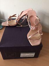 Prada Pink Silk Heels, Size 38,5 Uk 5, Wedding, Party, Holidays