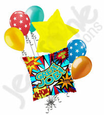 7 pc Great Job Ka-Pow Balloon Bouquet Party Decoration Graduation Grad Congrats