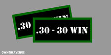 """.30-30 WIN Ammo Can Labels for Ammunition Case 3.5""""x1.50"""" stickers decals(2PACK)"""