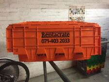 1 x USED 80 Ltr Large Plastic Storage & Removal Crate Various Colours and Brands