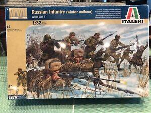ITALERI RUSSIAN INFANTRY WW2 IN WINTER UNIFORMS 1/32 FACTORY SEALED