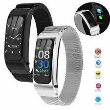Bluetooth Headset Bracelet Smart Watch Phone Mate for iPhone Samsung Android