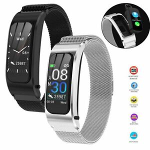 Bluetooth Headset Bracelet Smart Watch Phone Mate for Android iPhone Men Women