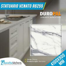 Laminated Kitchen Benchtop Laundry Statuario Venato 4.1x0.9M Duropal Heat Resist