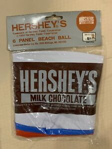 Rare Vintage 1991 Hershey Beach Ball Inflatable Pool Float NEW 6 Panel