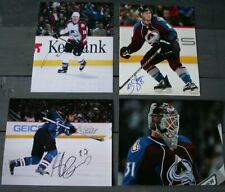 Lot 4 Autographed Colorado Avalanche 8x10 Photos  Deadmarsh Shatlenkirk Quincey