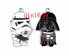 20Pcs Star Wars Cartoon Metal Charms Jewelry Making pendants Party Favor Gifts