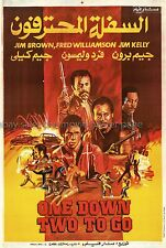 One Down Two to Go 1982 Fred Williamson Egyptian one-sheet movie poster