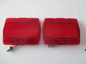 64-66 FORD MUSTANG 68 LED RED TAIL LIGHT LENSES NEW 65 1964 1965 1966