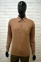 Polo Uomo DATCH Taglia Size M Maglietta Shirt Man Camicia Cotone Marrone Maglia
