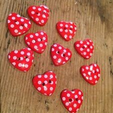Resin Heart Sewing Buttons