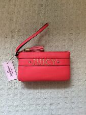 NWT Juicy Couture Wristlet Wallet Geranium Red Style $55!