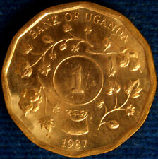 1 SHILLINGS 1987 UGANDA #9879