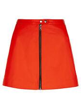 Muubaa Seema Flame Leather Skirt. RRP £225. M0561. UK 10.