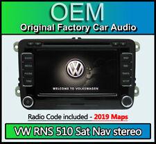 VW RNS 510 sat nav stereo, Transporter T5 Navigation CD DVD + code 2019 Maps