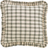 PRAIRIE WINDS Fabric Euro Sham Sage/Creme Plaid Ruffle Farmhouse VHC Brands