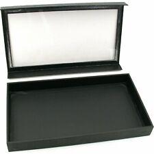 """Black Jewelry Display Case Necklace Bracelet Showcase Tray 14 3/4"""" x 8 1/4"""" Kit"""