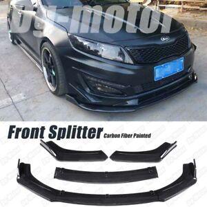 Carbon Fiber Look Front Lip Splitter Bumper Body Kit Fits KIA Optima K5 2011-19