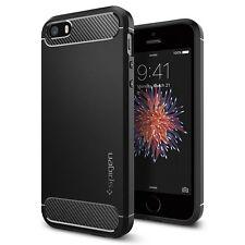 Custodia iPhone SE Spigen [Rugged Armor] Black Massima Protezione da Urti