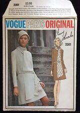 Vogue Guy Laroche Paris Original Uncut 1970's Pattern w/Cloth Label #2301 Mod