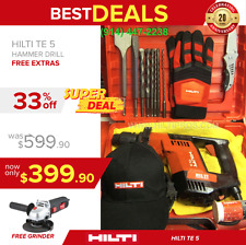 Hilti Te 5 Hammer Drill, Good Condition, Free Angle Grinder, Fast Shipping