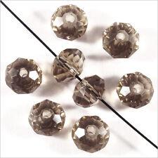 20 perles à Facettes Rondelles 6 x 4 mm en Cristal Black Diamond