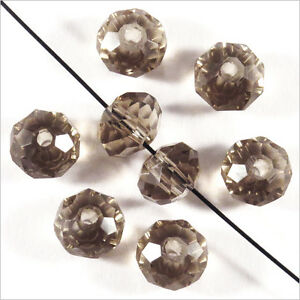 20 Pearls To Faces Washers 6 X 4 MM Crystal Black Diamond