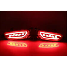 Car LED Rear Bumper Reflector Tail DRL Driving Brake Light for Mazda CX-3 2017
