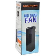 "New Brightown 14"" 3 Speed Oscillating Mini Tower Desk Fan - Black Ventilator"