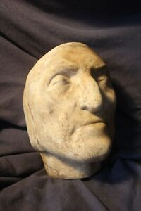 Death Mask of Dante Alighieri Bust Statue Italian Divine Comedy The Inferno Poet