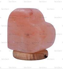 PINK HEART MULTI COLOR BULB USB LED HIMALAYAN SALT TABLE LAMP NATURAL IONISER