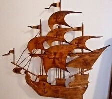 Stunning Old Metal Boat Wall Ornate Ship Clipper Decor