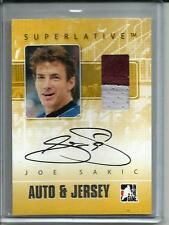 Joe Sakic 07/08 In The Game Superlative Autograph Game Used Jersey (1 of 50)