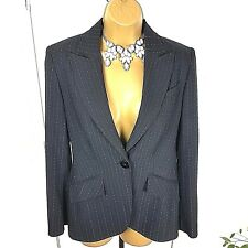 Next Blazer Long Sleeves Striped Black Size UK 8 Casual Occasion