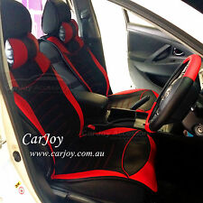 Red Car Seat Cover Leather Full Pack WATERPROOF Honda Jazz Civic Accord CR-V
