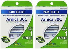 2 Pack Arnica 30C Great Value 3 Tubes Pack Boiron 6 Tubes Total