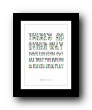 More details for blur there's no other way  ❤  song lyrics typography poster art print