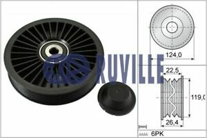 Ruville Drive Belt Idler Pulley 55546 fits Volvo V70 I 875, 876 2.3 T-5 AWD 2.4